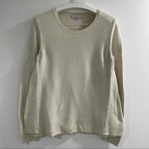 Madewell Riverside Texture Beige Sweater size M